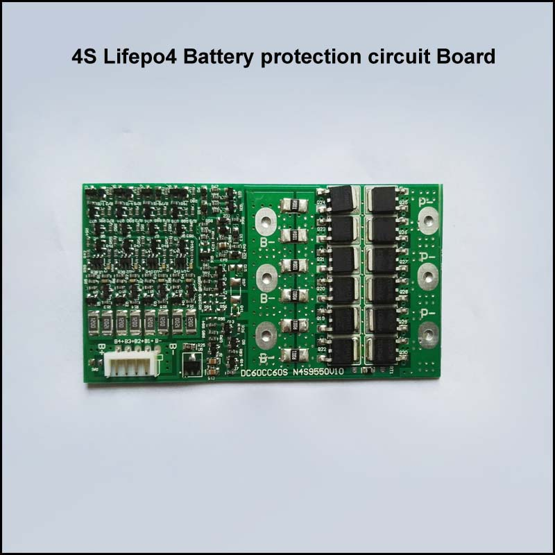 Generous 4s 12v Or 14.6v Lifepo4 Battery Pcb With 50a Charge And Discharge Current For Auto Car Jump Starting Battery 300a Pulse Current Crease-Resistance Active Components