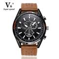 V6 Homens Relógios NORTE Marca Luxo Casual Militar Quartz Sports relógio de Pulso Pulseira de Couro Relógio Masculino relógio relogio masculino