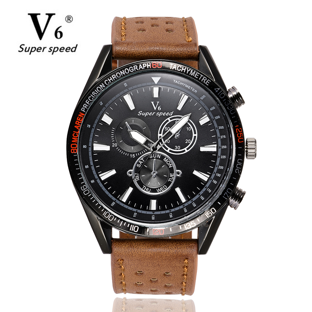 V6 Mens Watches NORTH Brand Luxury Casual Military Quartz Sports Wristwatch Leather Strap Male Clock watch relogio masculino 2017 oukeshi brand men sports watches luxury leather military watch male quartz wristwatch relogio masculino oks11