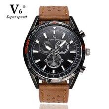 V6 Hommes Montres NORD Marque De Luxe Casual Militaire Quartz Sport Montre-Bracelet Bracelet En Cuir Mâle Horloge montre relogio masculino