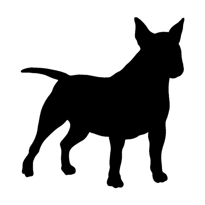I Love My Pitbull Staffy Terrier Dog 5x6 White Window Decal Truck Auto Sticker D210