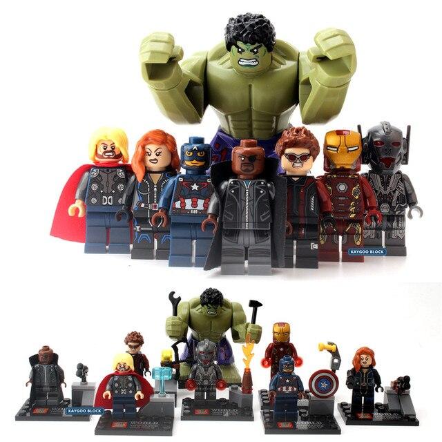 Vingadores Marvel Super Heroes Figuras de Ação Militar Blocos Brinquedos Deadpool homem-Aranha Hulk Batman Presentes de Natal