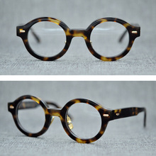 Brand Vintage Transparent Round Glasses Acetate Optical Frame Men Women Prescription Myopia Eyeglasses Spectacle Frames