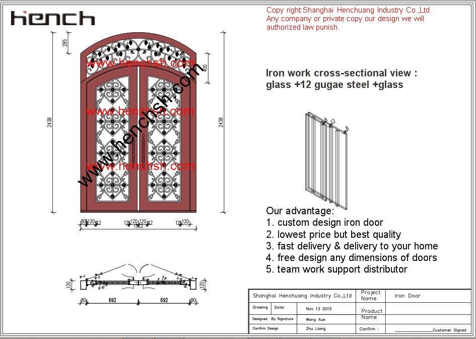 Hench 100% Steels Metal Iron Residential Front Doors