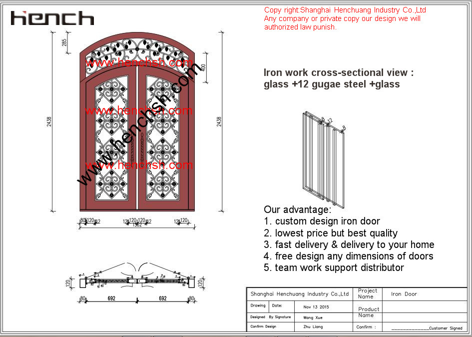 Résidentiel portes avant personnalisé portes coulissantes portes d'entrée