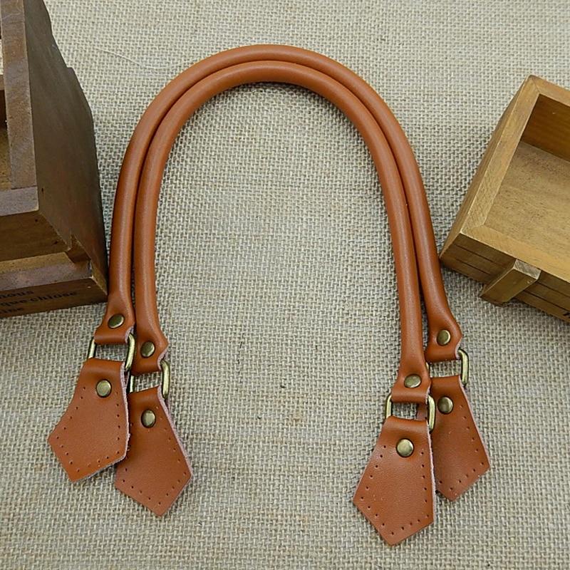 1 Pair 40cm 50cm 60cm Genuine Leather Bag Handles Strap Replacement for Handbags Straps New Women Bags DIY Accessories KZ0002