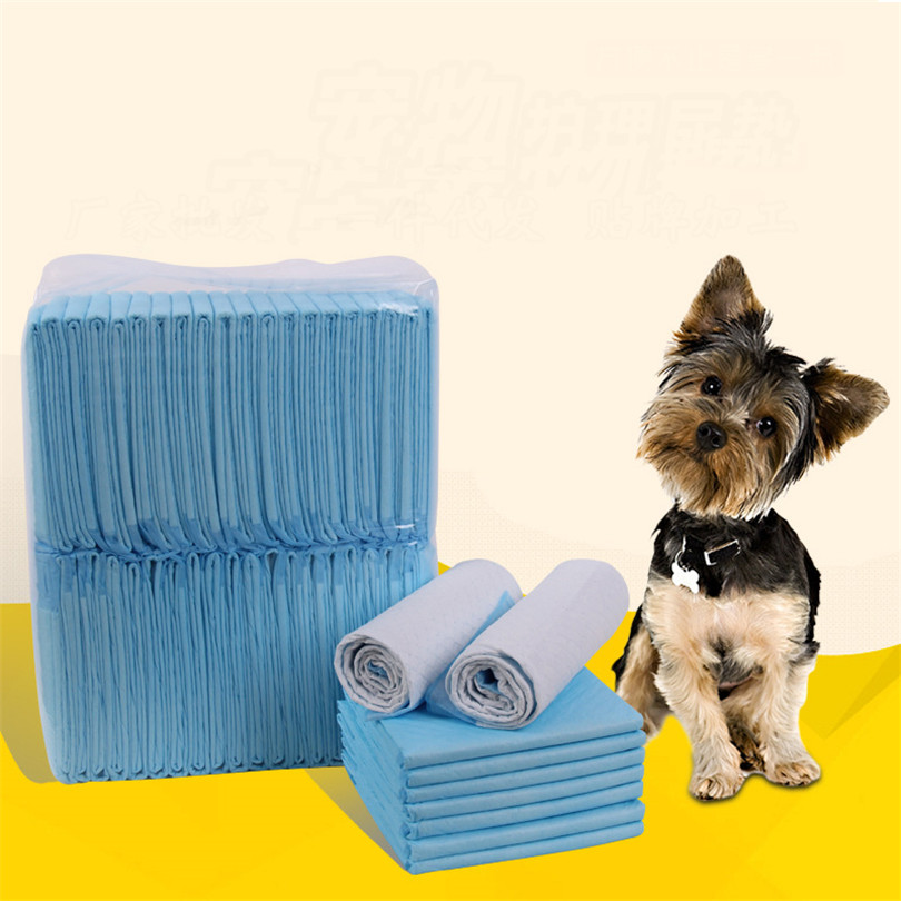 50pcs/lot Pet Dog Diapers Disposable Heavy Absorbency Underpads  Pet Dog Training Urine Pad Diapers For Dogs Cleaning Diapers