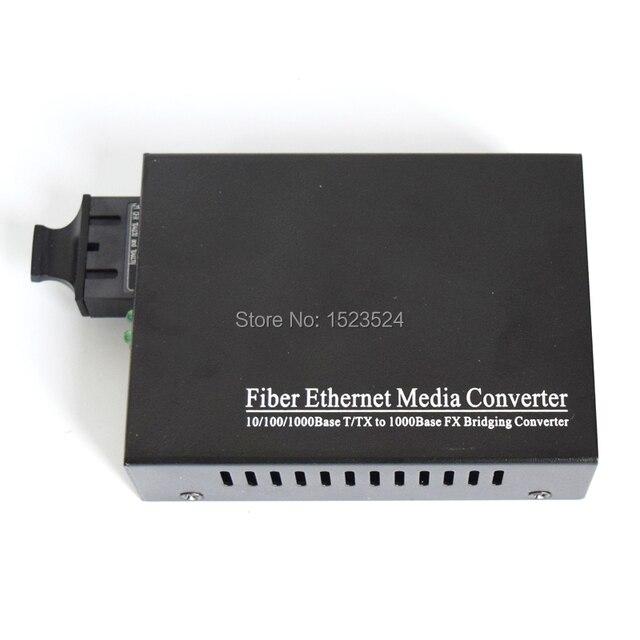 Convertisseur de médias à fibers optiques Gigabit 850NM haute qualité 1000Mbps Port SC Duplex multimode 0.55KM