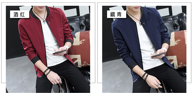 HTB1AhUokXkoBKNjSZFkq6z4tFXaf Fall 2019 pure color collar jacket type teenagers cultivate one's morality Casual jacket