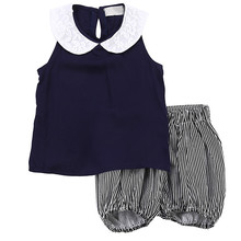 2018 Fashion Hot Cute New Toddler Baby Girls Summer Cotton Outfits Clothes T-shirt Tops+Pants Children Sets new
