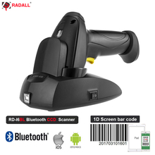 RADALL Industry Class Wireless Barcode Scanner IP68 Waterproof Anti-shock Dustproof with wireless charging stand RD-I2 I6BL I8