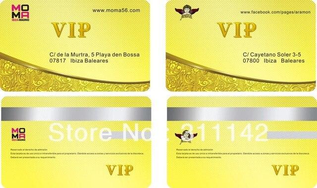 Personnalise PVC Carte De Visite Nom Personnel Cartes Les Deux Cotes Impression 038mm
