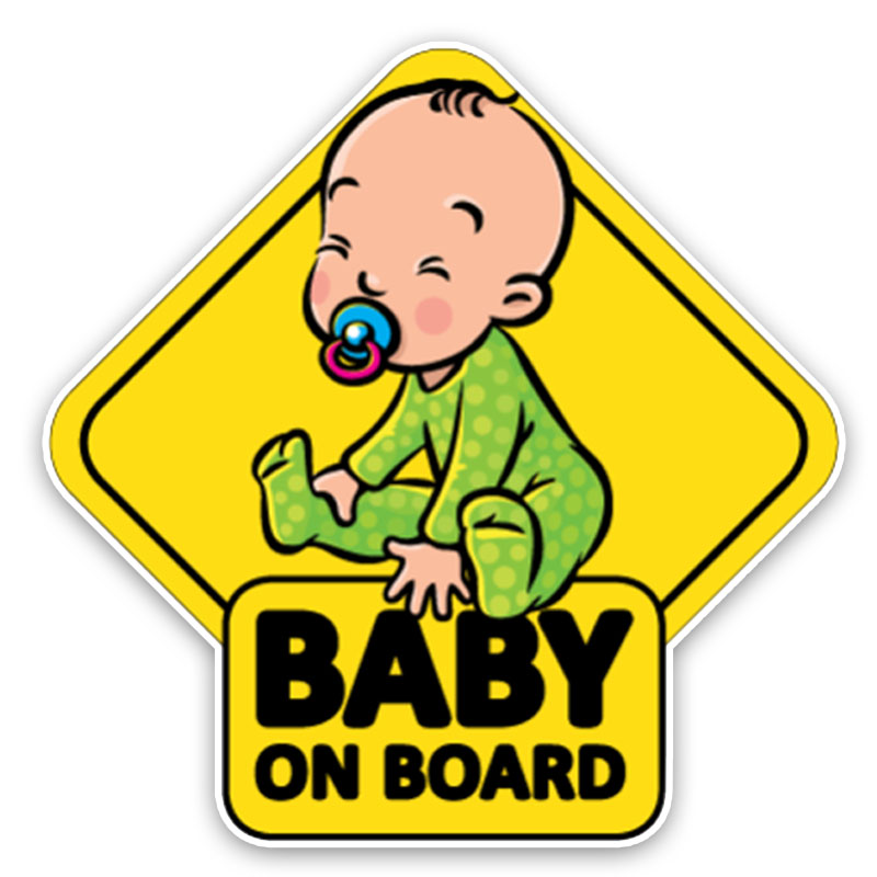 BABY ON BOARD funny car sticker PVC decals for cars styling wrap decoration automotive products Funny Cute Warning Signs decor