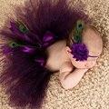 Юбка-пачка для маленьких девочек и повязка на голову с цветами, комплект для новорожденных, реквизит для фотосессии, детская фатиновая юбка,...