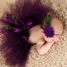 Bebê Saia Tutu Menina e Flor Headband Set Newborn Fotografia Props Bebê Tule Pettiskirt Traje Doce Presente