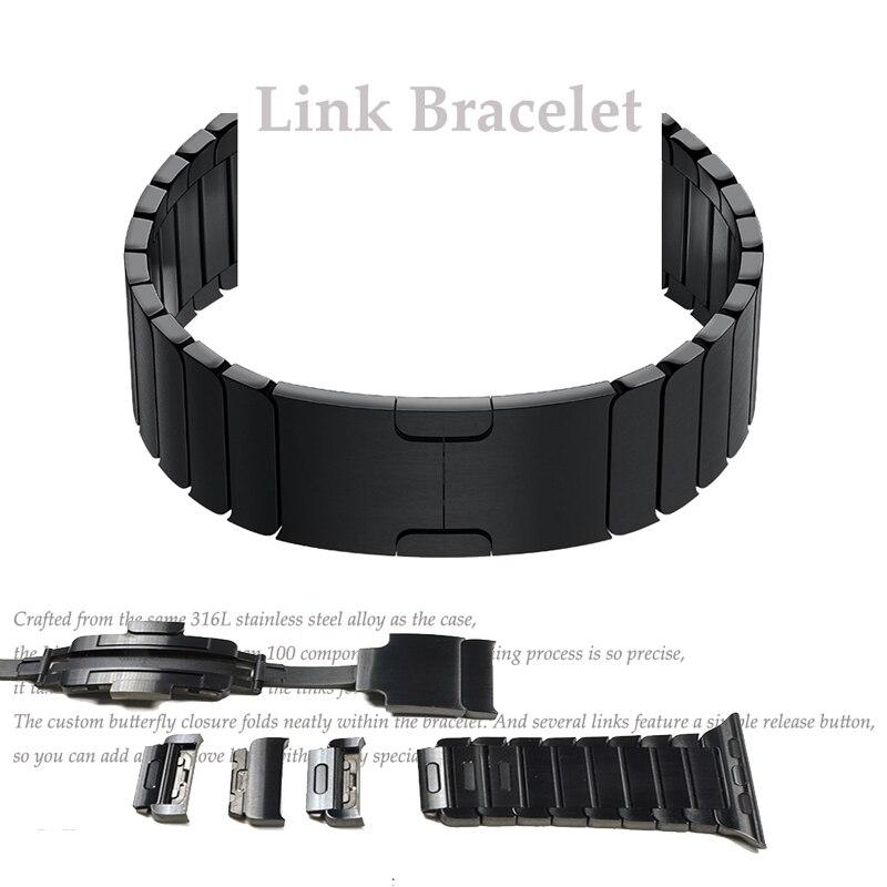 Cinturino in acciaio inox per correas Apple Watch Band 42mm 38mm 44mm 40mm di Collegamento Del Braccialetto cinturino da polso cintura iwatch serie 4/3/2/1