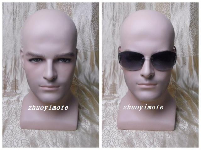 High quality realistic fiberglass male mannequin dummy head for hat wig headphones mask display manikin heads