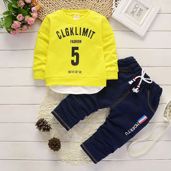 2019 Fashion New product children's clothing Pullovers and pants 2 pieces Set for Boys and girls Kids clothes Clothing baby Sets 1
