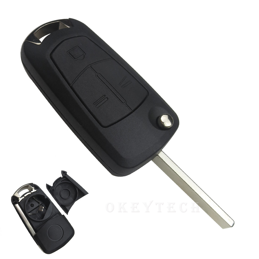 Flip Folding Remote Car Key Shell For Opel Vauxhall Corsa D Astra Vectra Zafira Signum 3 Button Replacement Car-Styling Fob Case стоимость