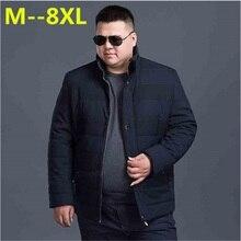 plus size 10XL 8XL 6XL 5XL 4XL 2017 Hot Sale Men Winter Splicing Cotton-Padded Coat Jacket Winter Parkas High Quality big large
