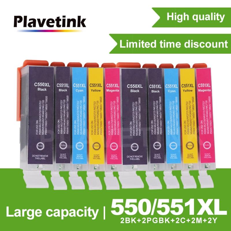 Совместимый чернильный картридж Plavetink для Canon PGI550 CLI551 PGI 550 PIXMA IP7250 MG5450 MG5550 MG6450 MG5650 MG6650