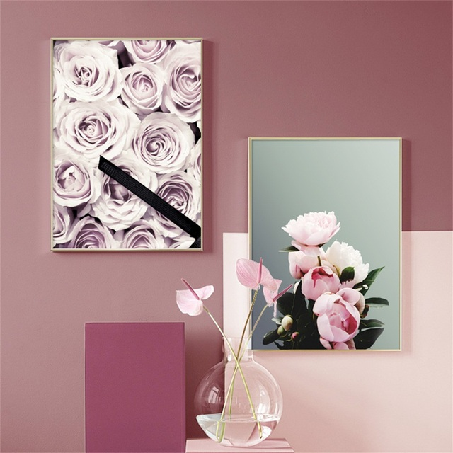 Pink Rose Dream Girl Bedroom Nordic Posters