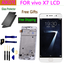 5.2 NEW Original screen for Vivo X7 LCD Full Touch Display screen touch for Vivo screen X7 LCD screen with frame new touch screen 4pp120 0571 k01