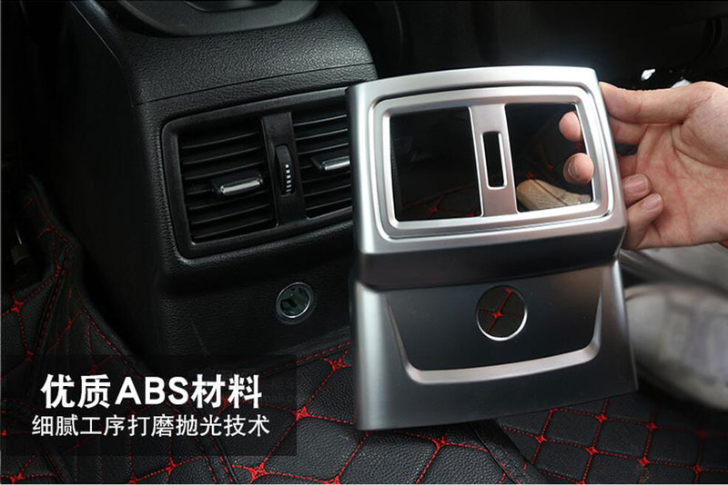 NEW Chrome Rear Air Conditioning Outlet Cover Frame Trim Decoration For BMW X1 2016 Car Accessories
