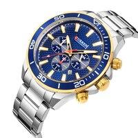 Relogio Curren Masculino Топ люксовый бренд кварцевые часы для мужчин светящиеся стрелки хронограф повседневные мужские наручные часы водонепроницае...