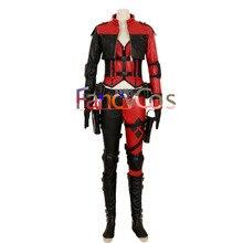Halloween mujeres injusticia 2 Harley Quinn traje harleen quinzel Cosplay  pu cuero Cosplay trajes adultos película alta quali 444d6f6ca6bb