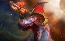 Battle Monster DragonsRed Earth Lev against Hauser Games Fantasy 4' Size Home Decoration Canvas Poster Print