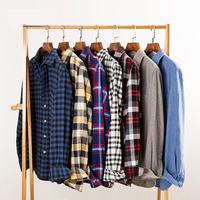 New Autumn Winter Flannel Red Green Black Checkered Shirt Men Shirts Long Sleeve Chemise Homme Cotton Male Check Shirts 50CS060