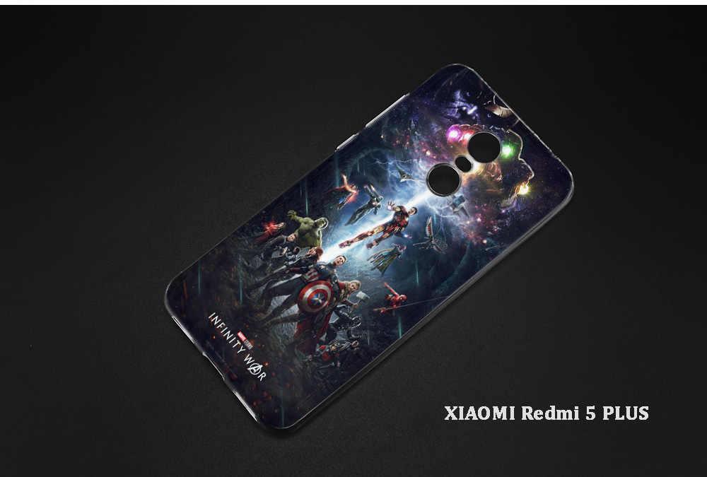 BINYEAE Мстители III Железный человек Капитан Америка силиконовый чехол для Xiaomi A1 A2 8 SE Redmi Note 4X5 6 5A 6A S2 Pro Дело Капа