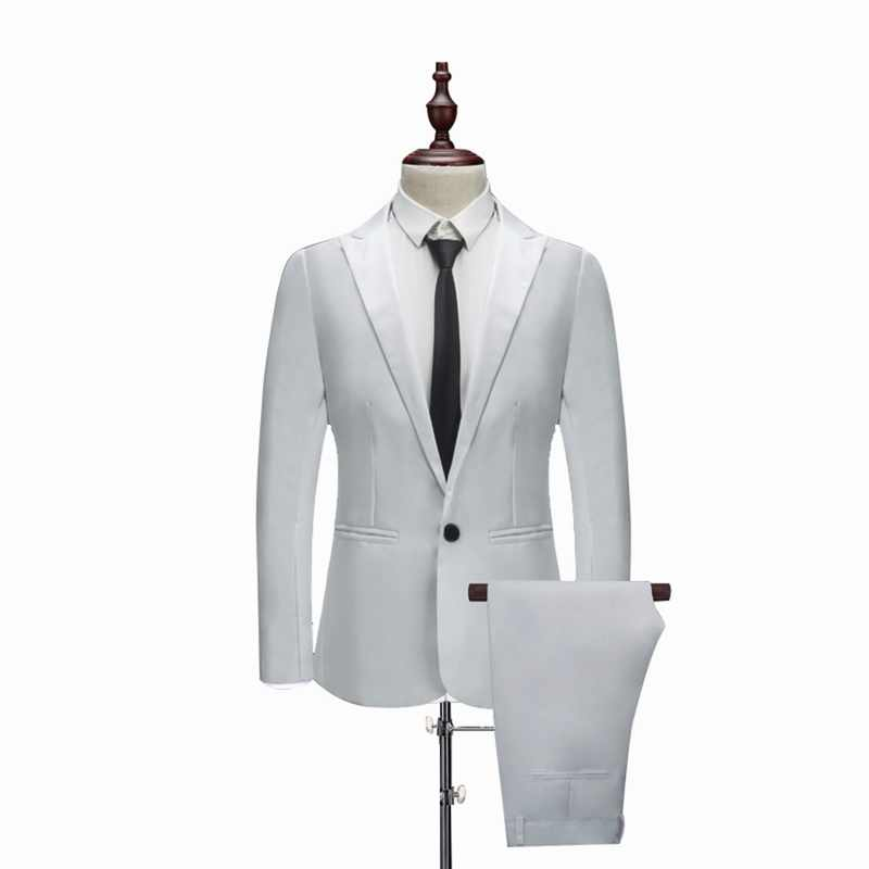 MJARTORIA luxe hommes Costume coupe ajustée Blazers pour hommes Costume d'affaires formelle fête tenue décontracté costumes (veste + pantalon)