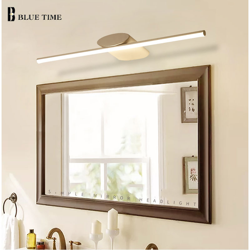 Phenomenal Us 35 99 40 Off Modern Sconce Led Wall Light Bathroom Lamp White Frame Led Wall Lamp For Bathroom Mirror Front Light Ac110V 220V 100 80 60 40Cm In Download Free Architecture Designs Viewormadebymaigaardcom