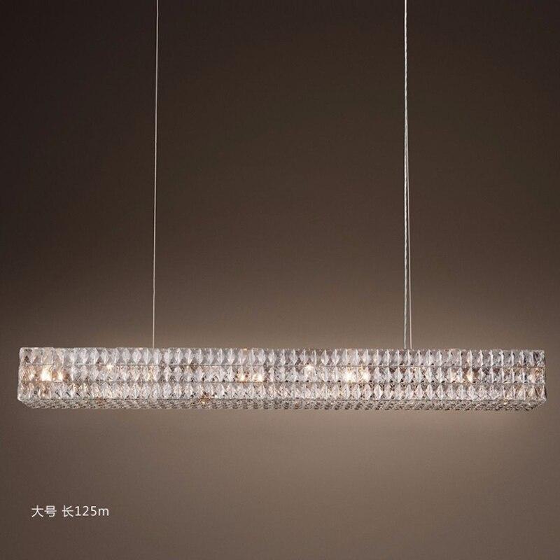 LED lampadario in stile Moderno Cristal Lampadari di Illuminazione Rotonda Lampadario di Cristallo Halo - 5