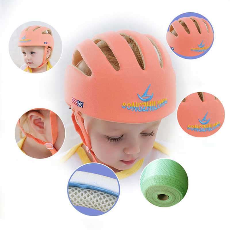 Baby Hat Kids Cotton Safety Learn To Walk Helmet Children Soft Protection Anti Collision Adjustable Baby Cap For A Boy Girl Gift