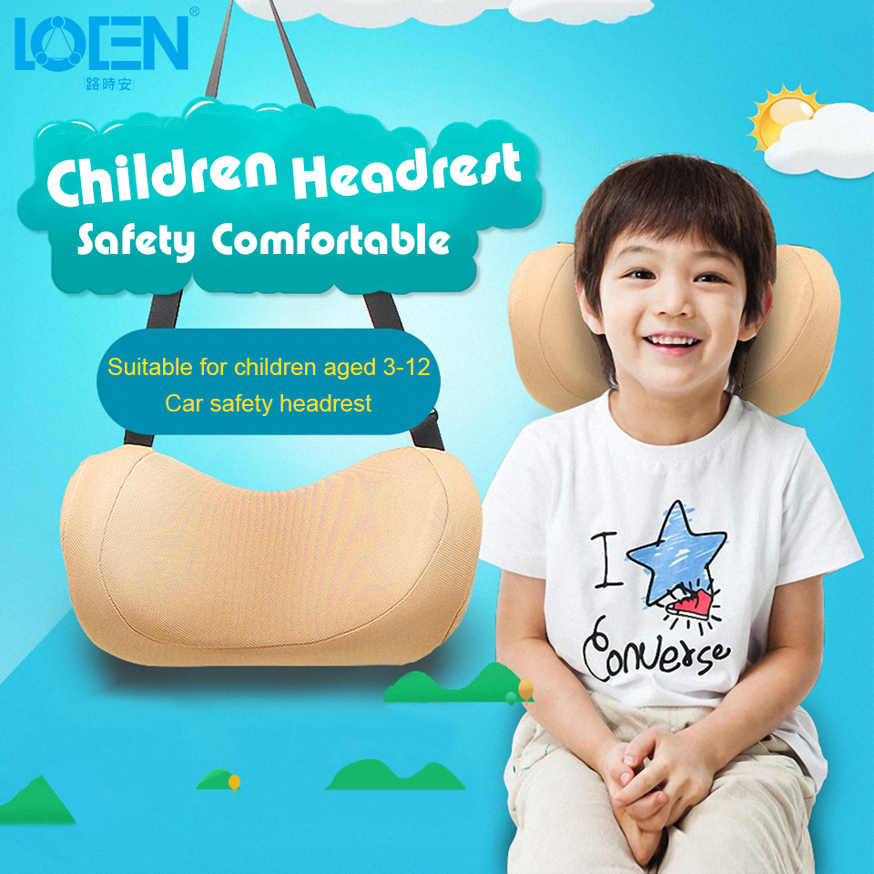 Universal Car Pillow For Kids Memory Foam Neck Protection Head Rest Cushion Travel Sleep Pillows 23x10x15cm Adjustable Height