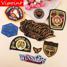 VIPOINT embroidery letter college patches army wings badges applique for clothing YX-252