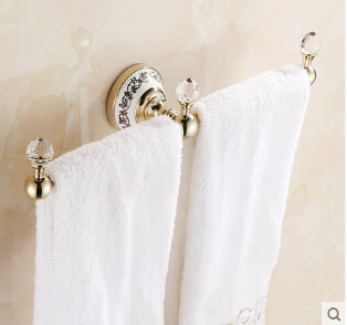High Quality Wall Mounted Single Towel Bar,Gold Bathroom Towel Holder, Brass Towel Rack ,Bathroom Accessories maideer high quality european style golden brass ceramic towel rack single towel bar bathroom accessories