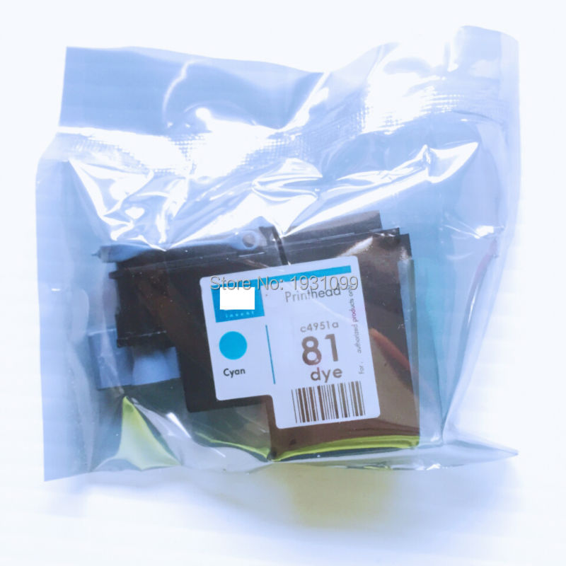YOTAT 1pcs Cyan remanufactured C4951 for HP81 print head for HP Designjet 5000 5000ps 5500 5500ps new original for hp designjet 5000 5000ps 5500 5500ps q1253 60041 c6095 60186 ink tubes assembly dey 60 inch plotter parts