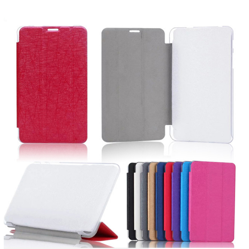 Leather+PC Tri-Fold 8 Inch Case Only For Huawei Mediapad T1 S8-701U S8-701W T1-821W T1-823L Stand Protective Cover