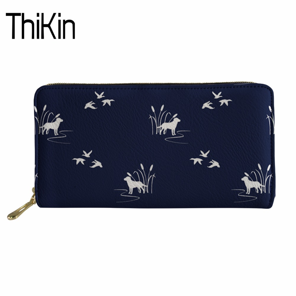 Thikin Brand Women&#8217;s Long PU Leather Wallets Zipper Money Bag <font><b>Phone</b></font> Purse&#038;Wallet Ladies <font><b>Dogs</b></font> Print Clutch Coin Card Pocket Large