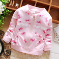 Spring Casual Bow Lace Girls Cotton Jackets Cardigan Baby kids Infant Children Outwear Casaco S2705