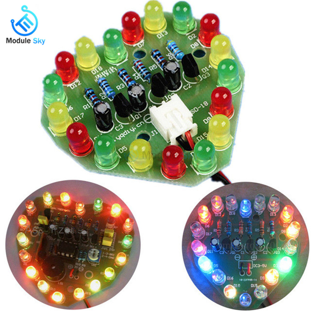 3V-5V Regulated Power Supply PCB Board Cycle Lamp Suite Breadboard LED Electronic Production DIY Kits Heart Shaped Christmas3V-5V Regulated Power Supply PCB Board Cycle Lamp Suite Breadboard LED Electronic Production DIY Kits Heart Shaped Christmas