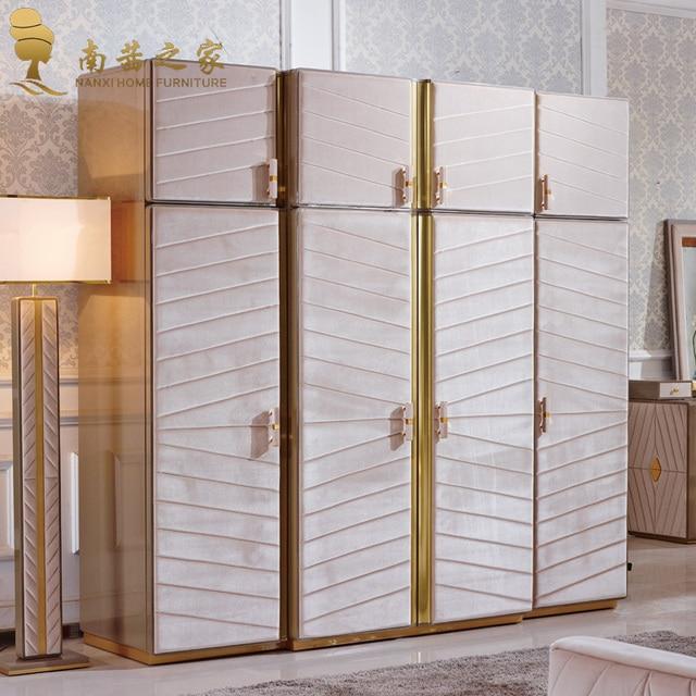 Cuatro puertas armario para guardar la ropa juego de dormitorio ...