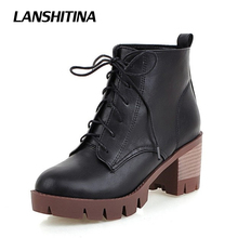 Women Ankle Boots Women Martin Boot Square Heel Shoes Spring Autumn Fashion Botas Woman Round Toe Casual Short Boots Shoes G026