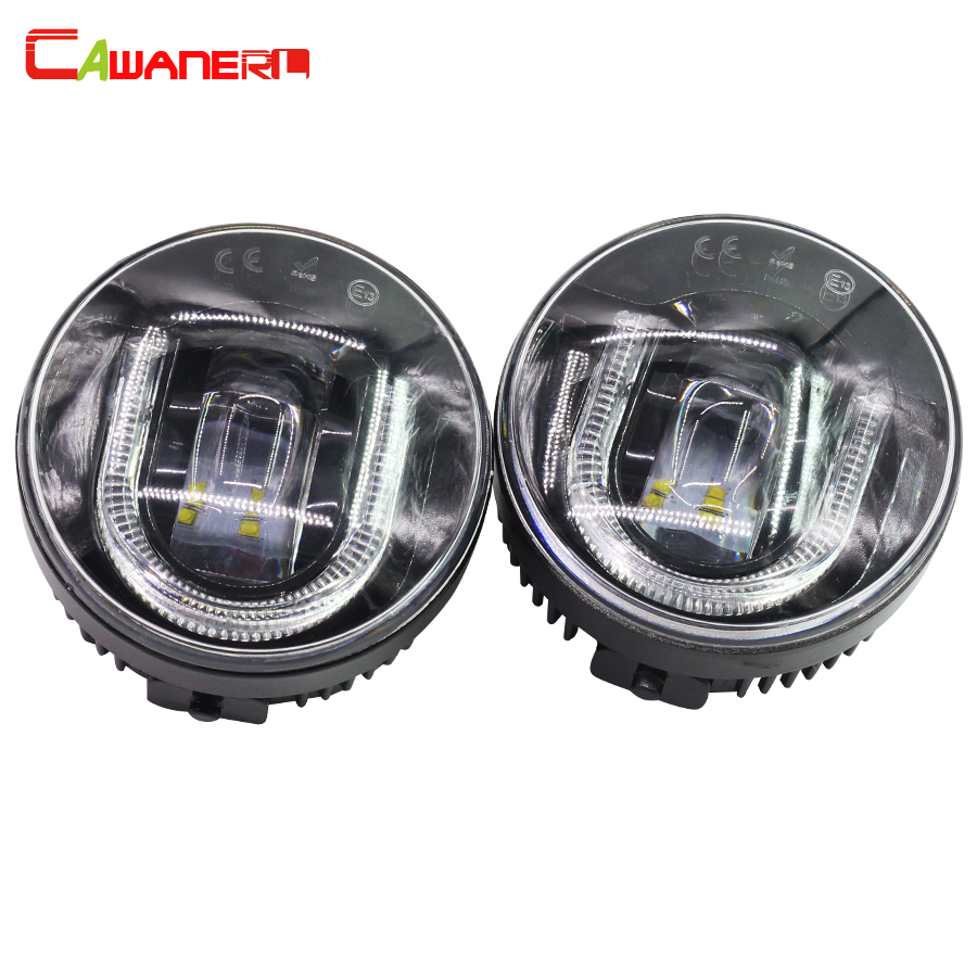 Cawanerl 2 Pieces Car Styling LED Front Fog Light DRL Daytime Running Lamp For Infiniti EX35 G25 G37 FX35 FX45 FX50 for infiniti fx35 37 45 50 ex35 37 h11 wiring harness sockets wire connector switch 2 fog lights drl front bumper led lamp