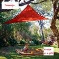 Tenwango Летний новый солнцезащитный сетчатый оттенок треугольный солнцезащитный занавес зеленый/синий/ярко-красный/бежевый солнцезащитный к...