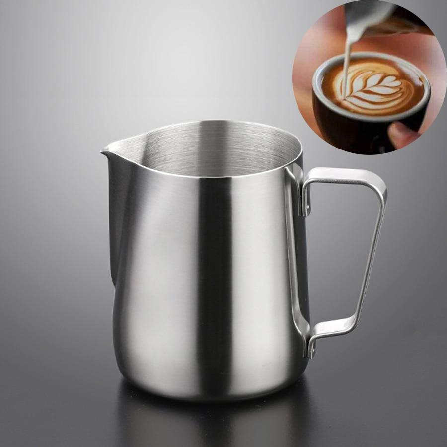 الفولاذ المقاوم للصدأ إبريق الحليب إبريق الحليب للقهوة باريستا إسبرسو الحرفية لاتيه مزبد المطبخ